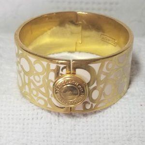 Authentic COACH Thick Hinge Bangle Bracelet